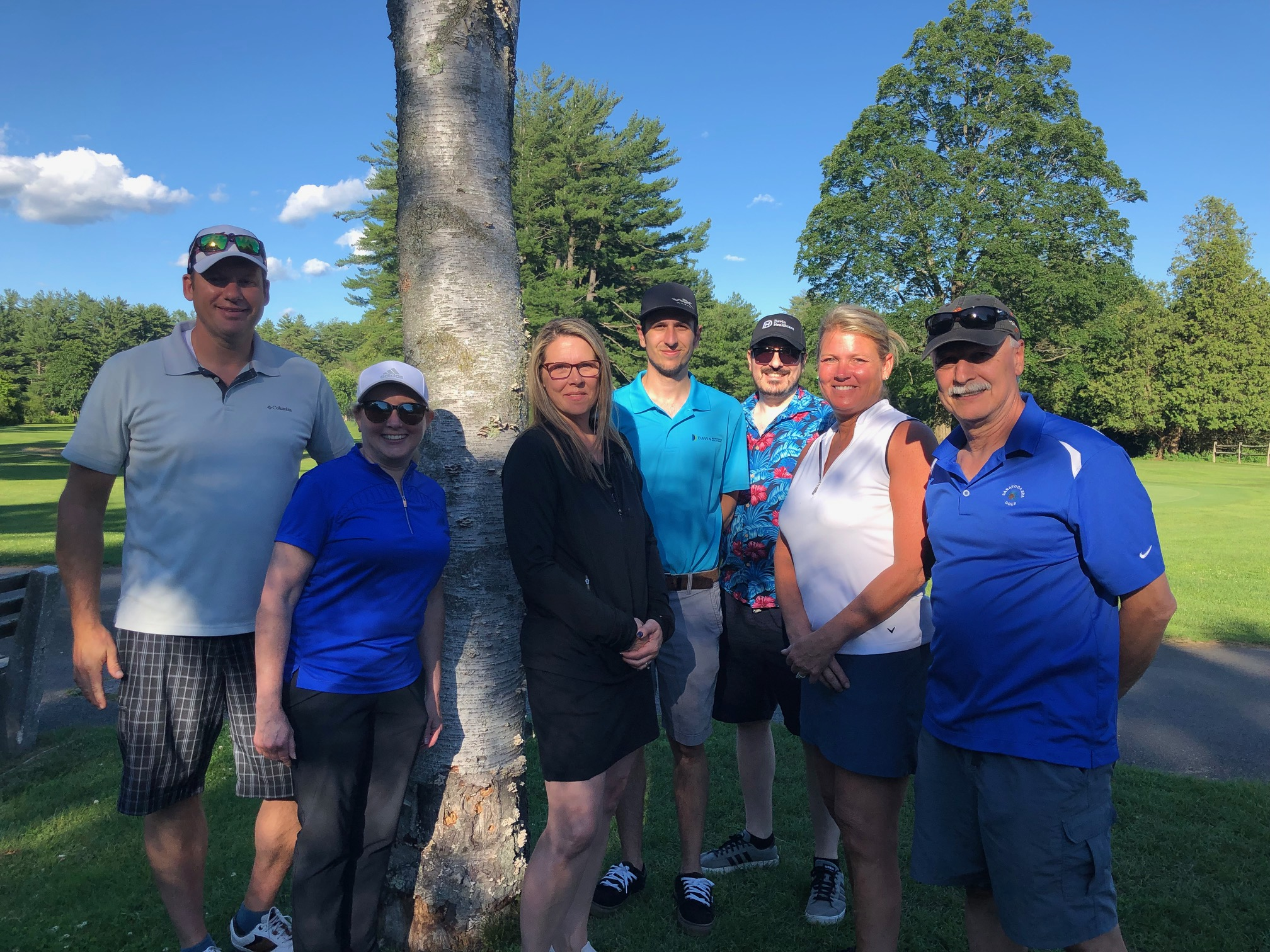 The Davin Healthcare Team on their weekly golfing outting.
